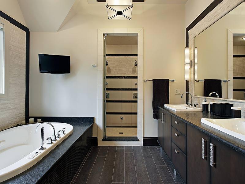 badkamers van natuursteen en composiet - van gils rhoon rotterdam, Badkamer